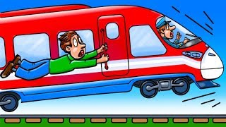 Co by się stało, gdyby pociąg jechał za szybko?