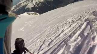 Descente du Mont-Blanc à skis