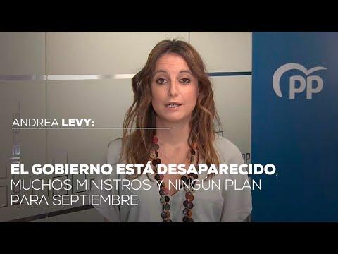 """Andrea Levy: """"El Gobierno está desaparecido, muchos ministros y ningún plan para septiembre"""""""