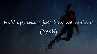 Amine - Invincible Lyrics | OFFICIAL LYRIC VIDEO | FROM SPIDERMAN INTO THE  SPIDERVERSE