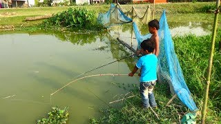 Best Fishing Video | Kids Fishing By Daily Village Life (Part-17)