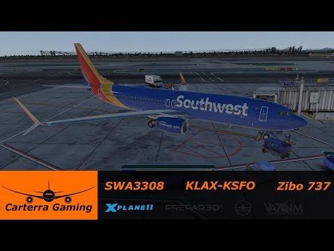 ZIBO MOD B737-800X v3 33 | Los Angeles to San Francisco [X-Plane 11