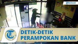 Video Detik-detik Perampokan Bank di Wonosobo, Pelaku Berpakaian Loreng, Sepatu PDL, & Todong Pistol