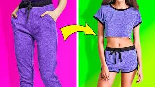 27 HACKS TO REMAKE OLD CLOTHES AND SAVE MONEY