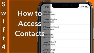 How to Access Contacts (Swift 4 + Xcode 9.0)