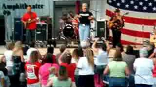 "Aaron Tippin Singing ""you got to stand for Something"" while Slapping my hand!"