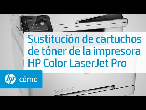 Sustitución de cartuchos de tóner de la impresora HP Color LaserJet Pro MFP M277dw