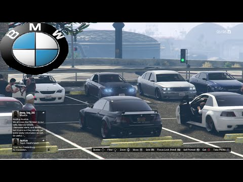 GTA 5 Online BMW Car Meet And Cruise