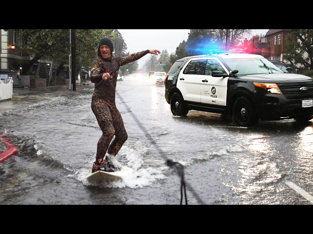 Flood Surfing with LAPD!