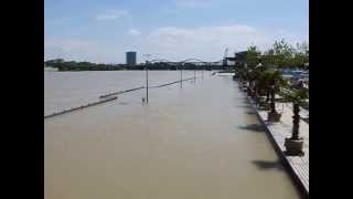 preview picture of video 'Hochwasser Ludwigshafen am Rhein 2013'