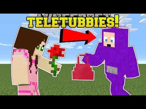 Minecraft: TELETUBBIES!! (GAMINGWITHJEN'S FAVORITE SHOW IN MINECRAFT!) Mod Showcase