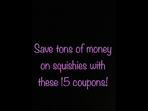 15 Squishy Coupon Codes!