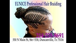 (214) 235-8691 Eunice Professional African Hair Braiding In Duncanville, Texas. 550 N Main St, #530