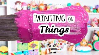 Painting on Things in My Art Room