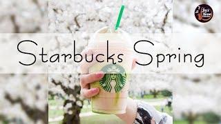 Starbucks Spring Jazz 2020 - Background Rain Spring - Relax Music for Wake Up, Work, Study