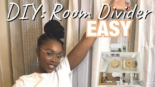 EASY DIY ROOM DIVIDER (PARTITION) // UNDER $20 || Just Jada