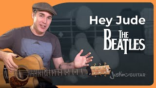 How to play Hey Jude by The Beatles - Easy Song Guitar