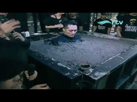 Demian buried alive in concrete for 50 hours | THE PERFECT ESCAPE [ MAY 22nd 2015 ] (видео)