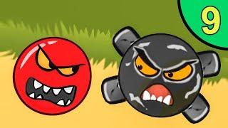 Несносный КРАСНЫЙ ШАР против монстров #9. Каменная пещера 3. Мультик ИГРА Red Ball на Игрули TV