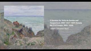 3 Sonatas for Viola da Gamba and Harpsichord, BWV 1027-1029