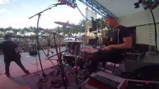 Cam Tyler drumming with Bea Miller - Rich Kids live at SunFest 2015