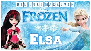 Making ELSA / FROZEN / DISNEY PRINCESS / Monster High Doll Repaint by Poppen Atelier