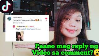 PAANO MAG REPLY NG VIDEO SA TIKTOK   TUTORIAL   PAG AKO NA NOTICE NETO? (MARY DIOS VIDAL)