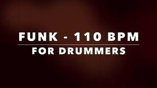 Funk Backing Track For Drummers  - 110 Bpm (NO DRUMS)