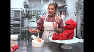 Jenna Rae Cakes Tutorial- How To Make A Sculpted 3D Elmo Cake! ♥️