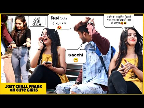 Just Chill Prank On Cute Girls || Cute Reactions by Girls || Pranks 2019 || SAHIL KHAN Production
