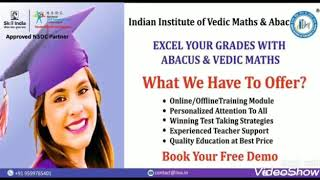 Online Classes By Government Certified Teacher Of ABACUS & VEDIC MATHS