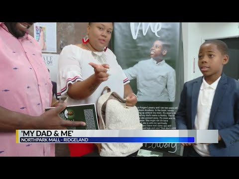 Young boy author holds book signing