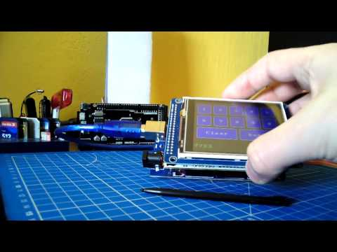 Arduino Mega 2560 and new touch ILI9341 displays