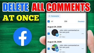 How to Delete ALL COMMENTS on Facebook at Once (2021)
