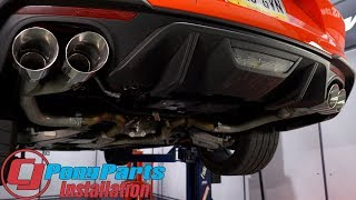"""2018-2020 Mustang GT: MBRP Axle-Back Pro 2-1/2"""" SS With 4"""" Quad Tips Install"""