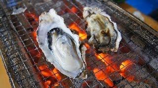 カキ小屋 宇品、広島の牡蠣を炭火焼きで!