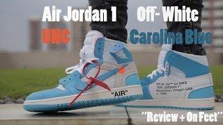 online store 6f4d4 a15bc unc jordan 1 off white on feet - मुफ्त ऑनलाइन ...