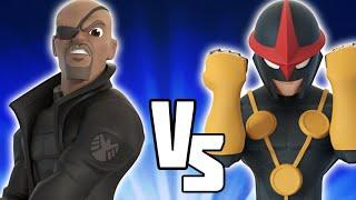 Nick Fury VS Nova - Disney Infinity BATTLES!