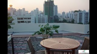 Unique Three Bedroom Penthouse with Private Rooftop Garden in Phrom Phong