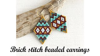 Brick Stitch Beaded Earrings Tutorial