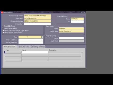 Oracle Apps HRMS Setups - Part 1