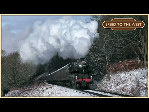Steam Trains in the Snow with the Severn Valley Railway Sant…