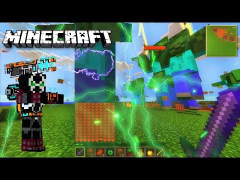 Minecraft Giant Zombie Apocalypse Chaos / God Hacker VS Pro Zombie's Giants / Titans MOD