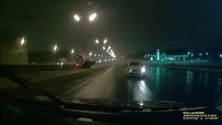 ДТП Таксист против скорой помощи на скользкой дороге. ЖЕСТЬ