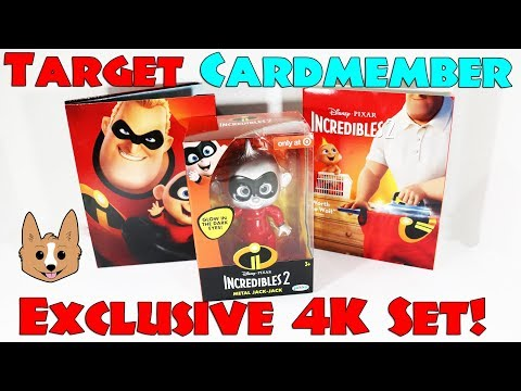 Incredibles 2 Target Exclusive 4K Blu Ray DVD Set Red Card Cardmember Exclusive Unboxing