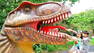 보람이의 포레스트 사파리 쥬라기공원 테마파크 놀이 Boram and Dinosaur Museum