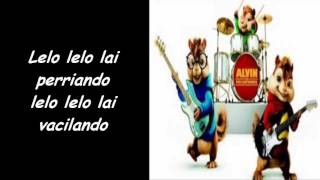 Alvin y las Ardillas cantando _Vacaciones _de Wisin + letra (Reggaeton 2016)
