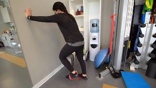 Low Back Pain & Running: Wall Plank Resisted Knee Highs