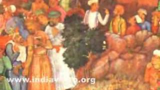 Sufi saint Abu'l Adyan praying on fire, Indian painting by Daulat