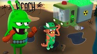 ОХОТА НА ЗОМБИ встретил РАДИОАКТИВНОГО ЗОМБАРЯ Мультик игра для детей Zombie Catchers #11